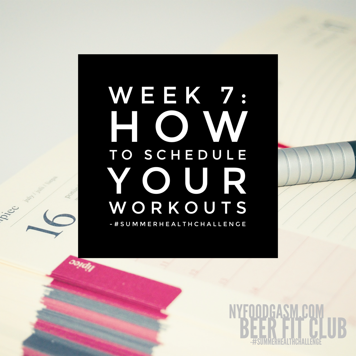 How To Schedule Your Workouts
